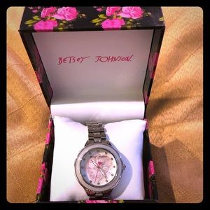 Authentic Betsey Johnson silver watch